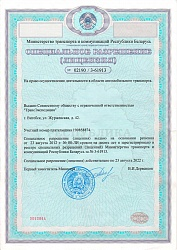 License for the right to carry out activities in the field of road transport
